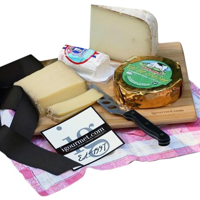 cheese plate and tablecloth