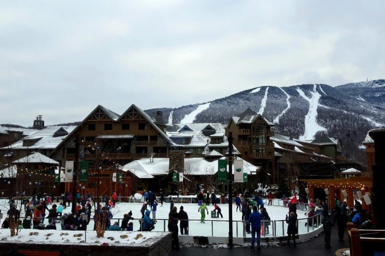 spruce peak village stowe vermont new years celebration
