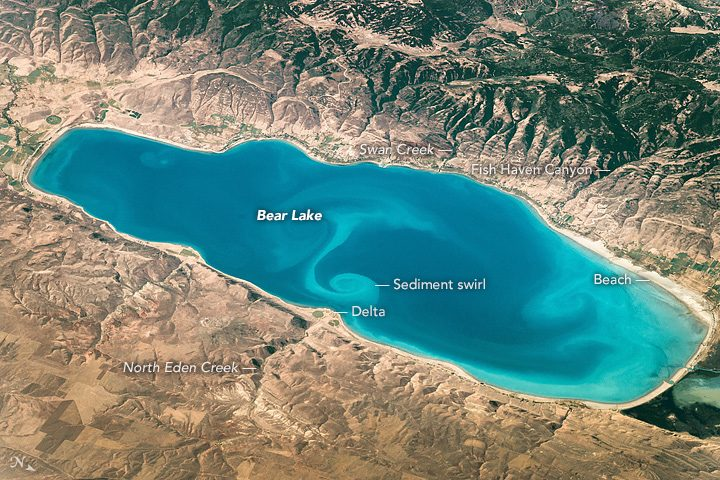 bear lake from space