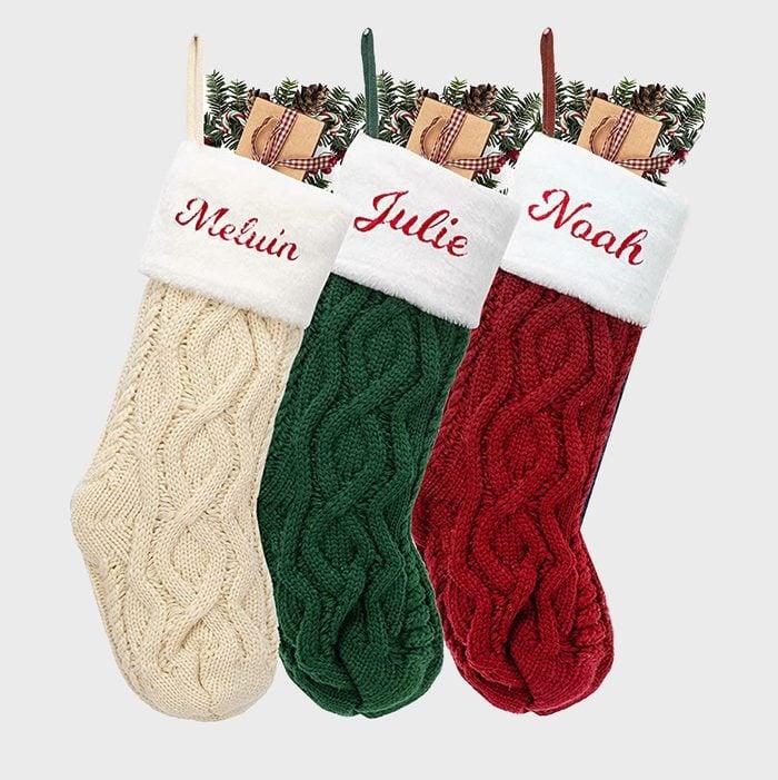 Knit Stockings Via Amazon