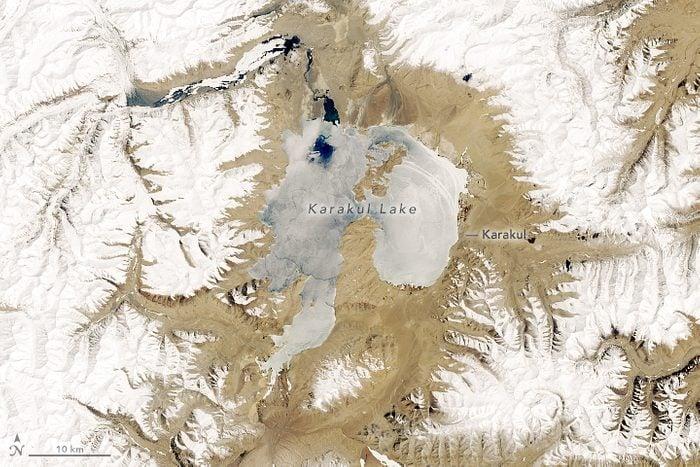 lake karakul from space nasa