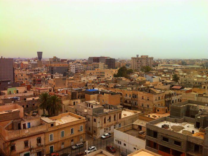 Aerial view from Tripoli, Libya.
