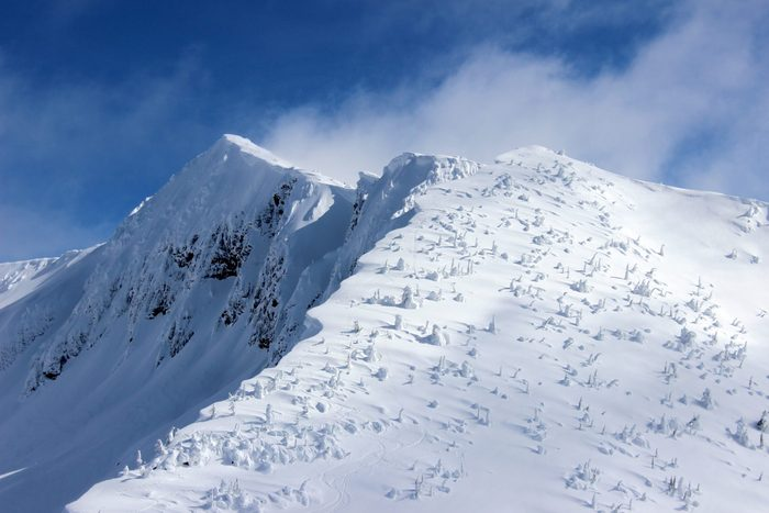Majestic Snow Covered Mountain in Canada