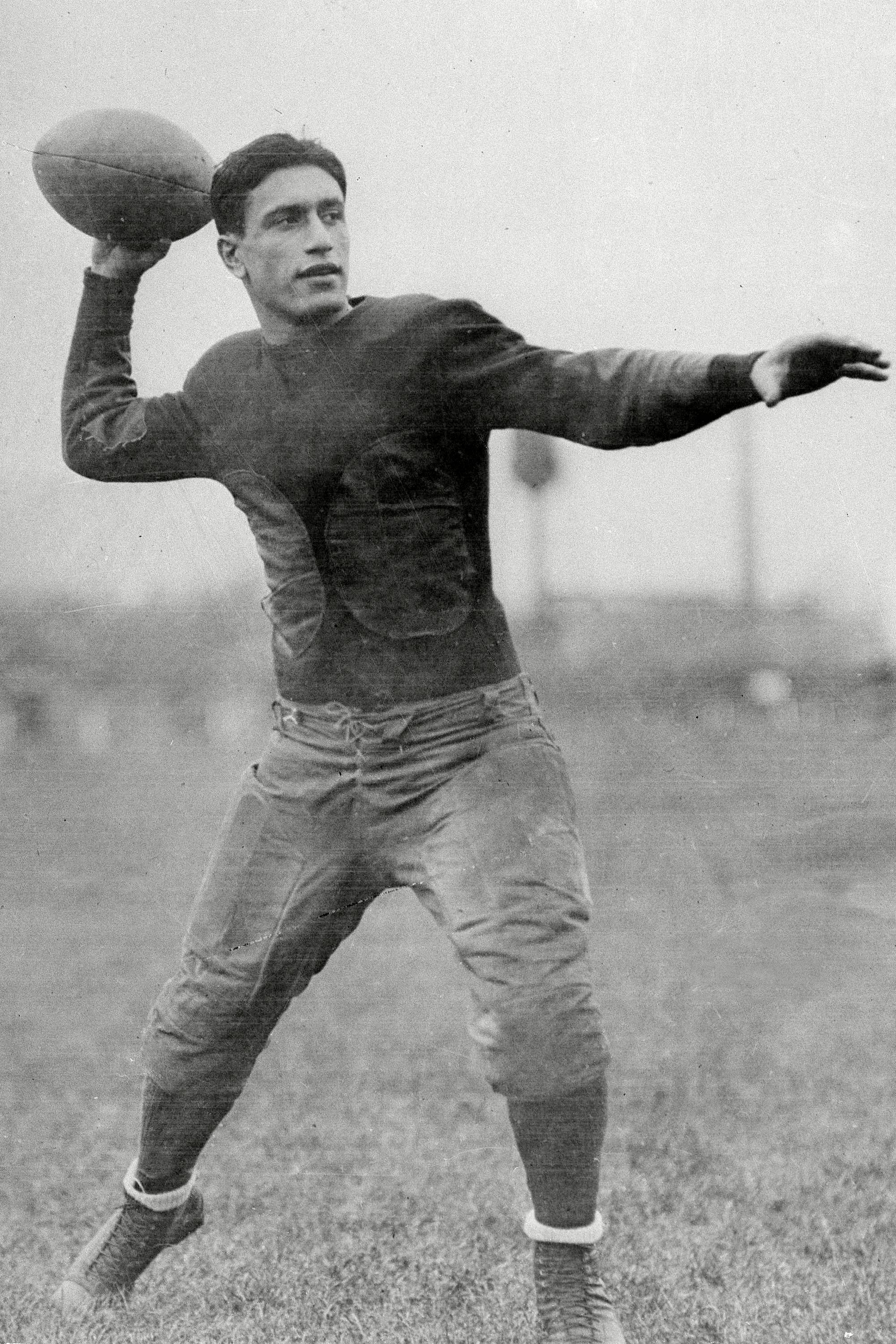 Mandatory Credit: Photo by Uncredited/AP/Shutterstock (10418272a) Showing Cleveland Bulldogs quarterback Benny Friedman. The first season, 1920, the American Professional Football Association had 14 teams, including the Bulldogs NFL at 100 The 1920s, CLEVELAND, USA - 18 Sep 1926