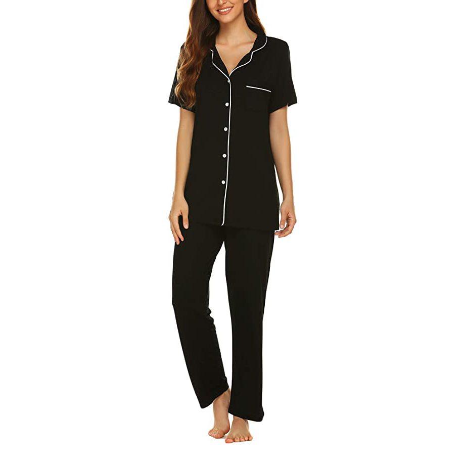 Women's Beautifully Soft Notch Collar Pant Pajama Set