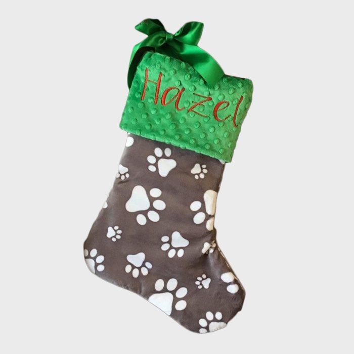 Paw Print Christmas Stockings Via Etsy