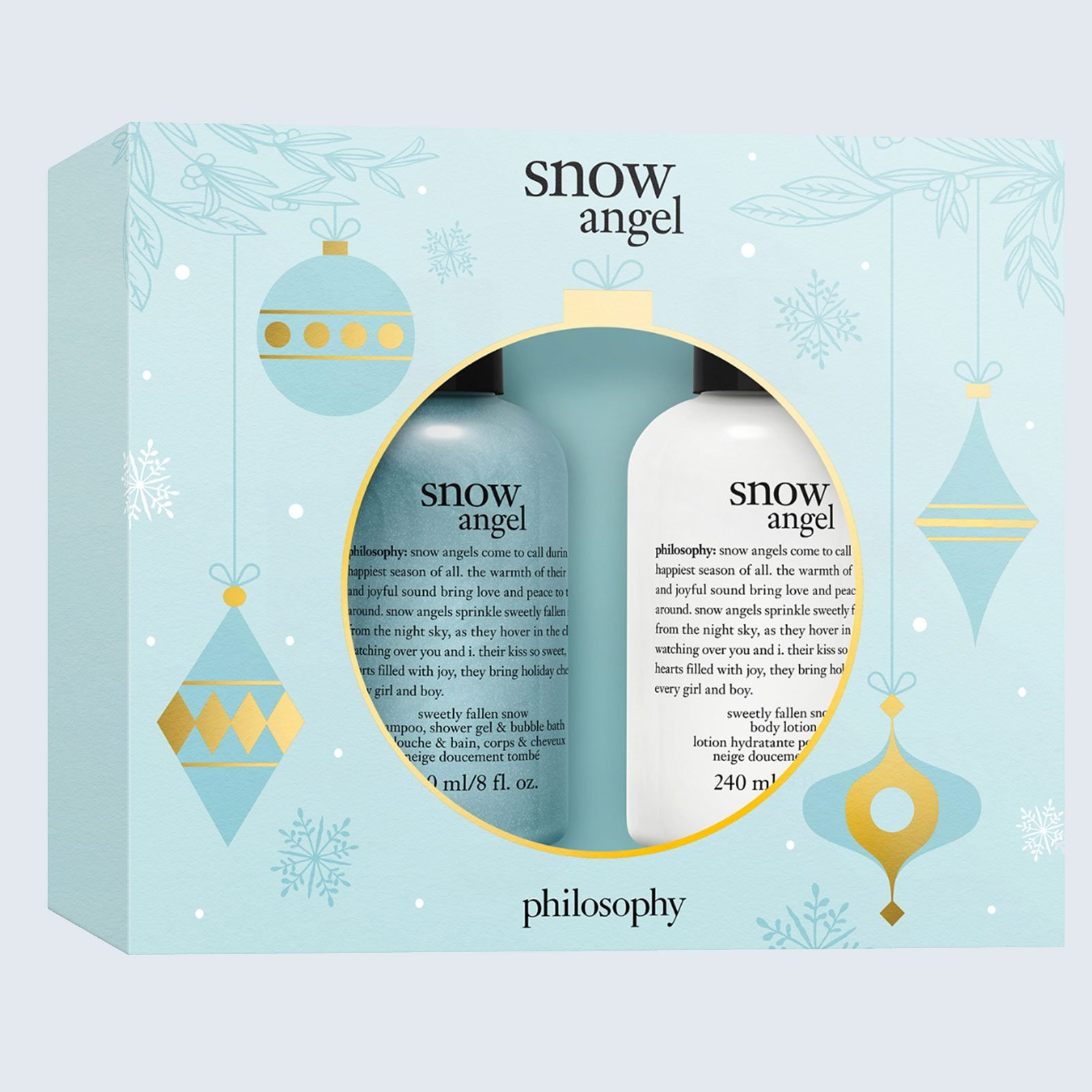 Snow Angel body wash and lotion set