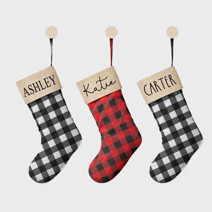 Plaid Christmas Stockings Via Etsy