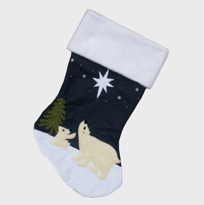 Polar Bear Christmas Stockings Via Etsy