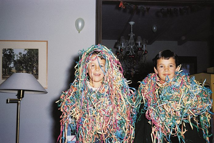 vintage photo new years celebration