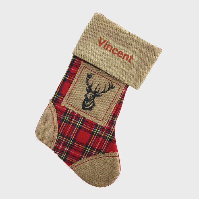 Reindeer Burlap Christmas Stockings Via Etsy