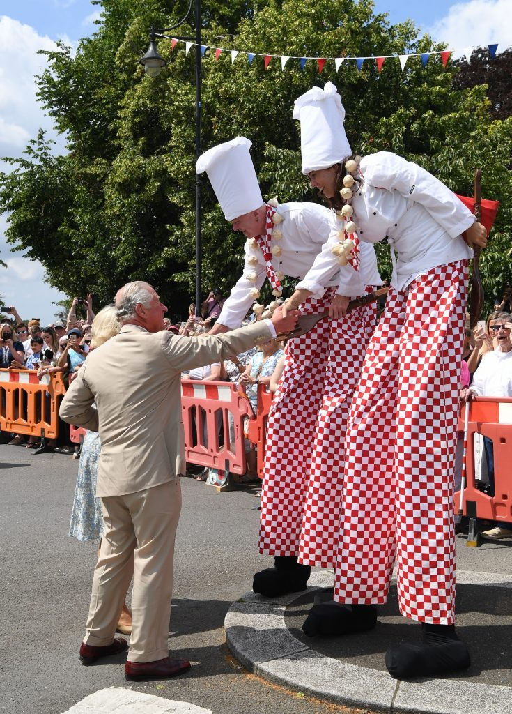 Camilla Duchess of Cornwall and Prince Charles in Tavistock 16 Jul 2019