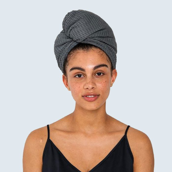 Ettitude Bamboo Lyocell Waffle Hair Towel