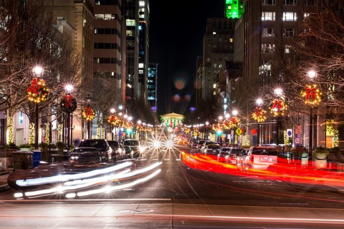 Fayetteville Street in Downtown Raleigh - Long Exposure