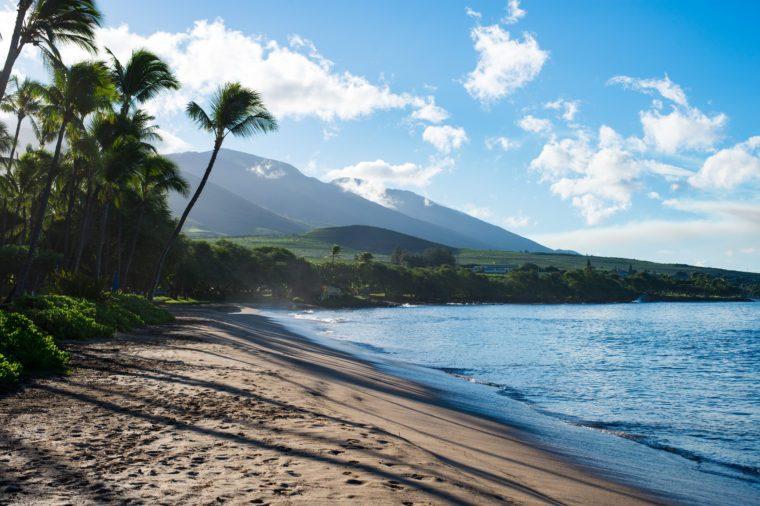 Lahaina beach on the island of Maui Hawaii