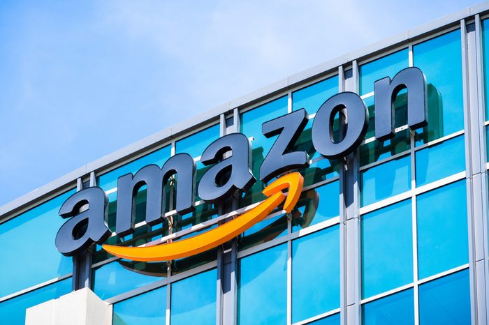 May 3, 2018 Sunnyvale / CA / USA - Amazon logo on the facade of one of their office buildings located in Silicon Valley, San Francisco bay area