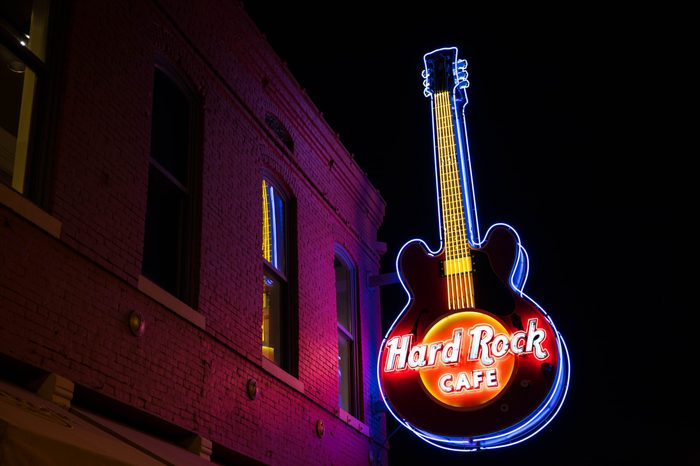 memphis tennessee hard rock cafe new year's