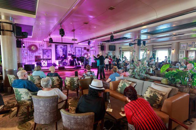 people dancing on cruise ship