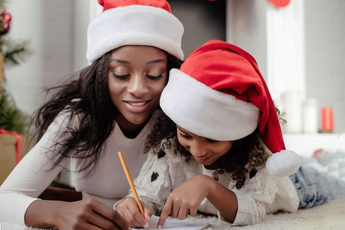 writing christmas card