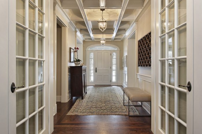 Foyer in upscale home with french doors