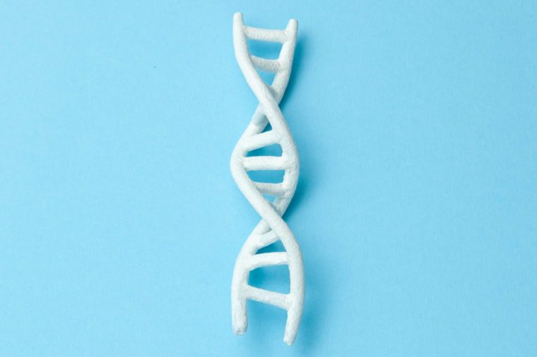 DNA helix research. Concept of genetic experiments on human biological code DNA