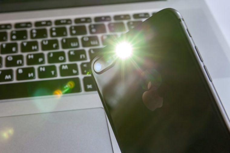 flashlight on iphone