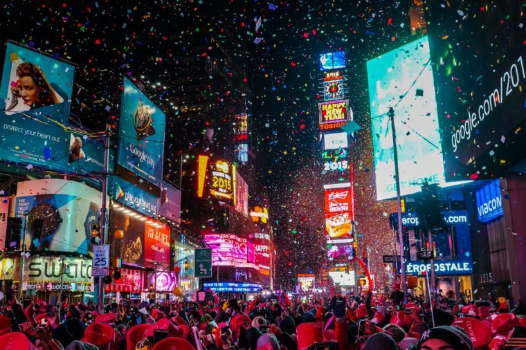 new york city times square ball drop new years celebration