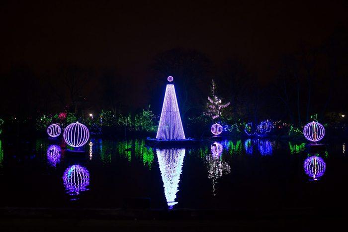 Beautiful Christmas Light Decorations at Festival of Lights in Cincinnati