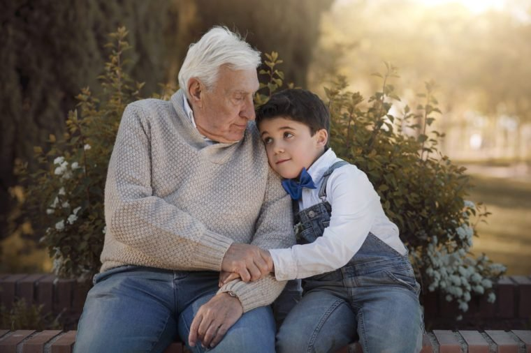 grandfather with his grandson