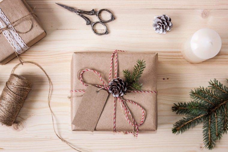 gift wrap alternatives brown kraft paper