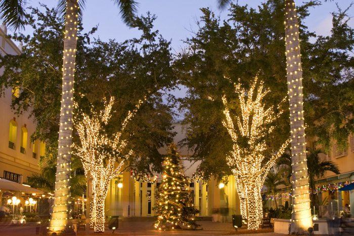Naples City at Christmas time, Florida, USA
