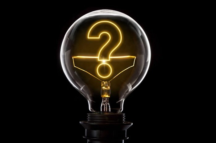 lightbulb with question mark