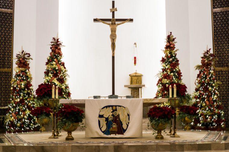 St Ann's Midnight Mass in Midland, TX