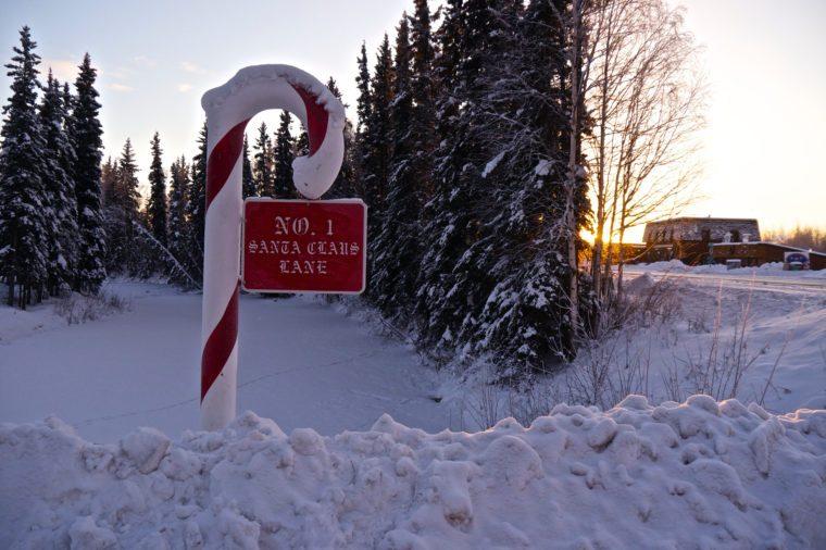 Santa Clause Lane in the North Pole in Alaska