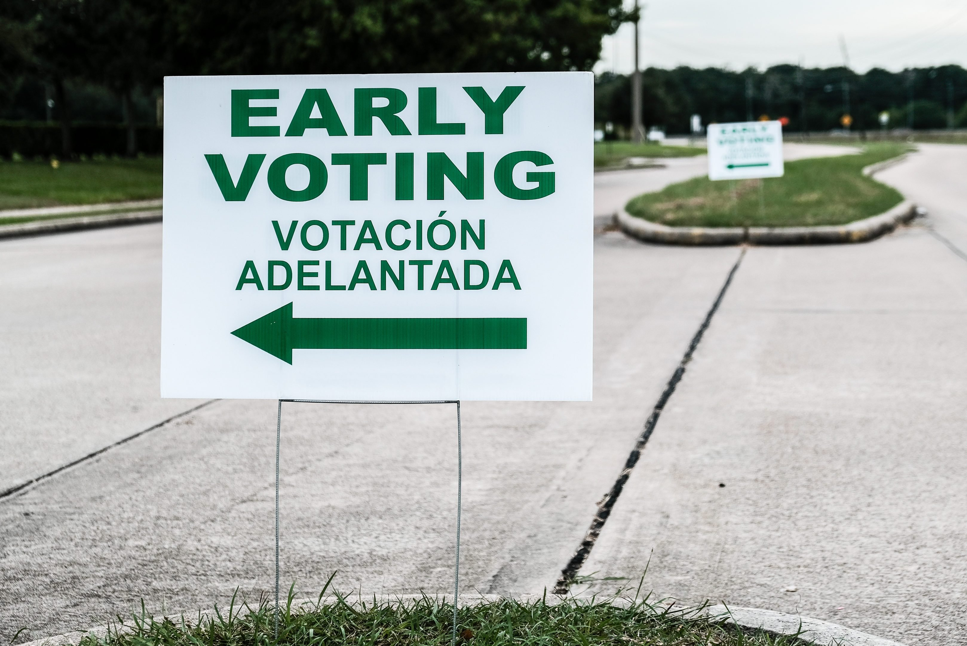 An Early Voting Site Sign - Early Voting for the November 6, 2018 General Election Started in Texas