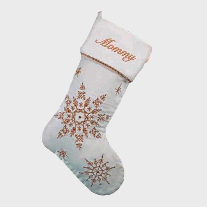 Snowflake Stockings Via Amazon