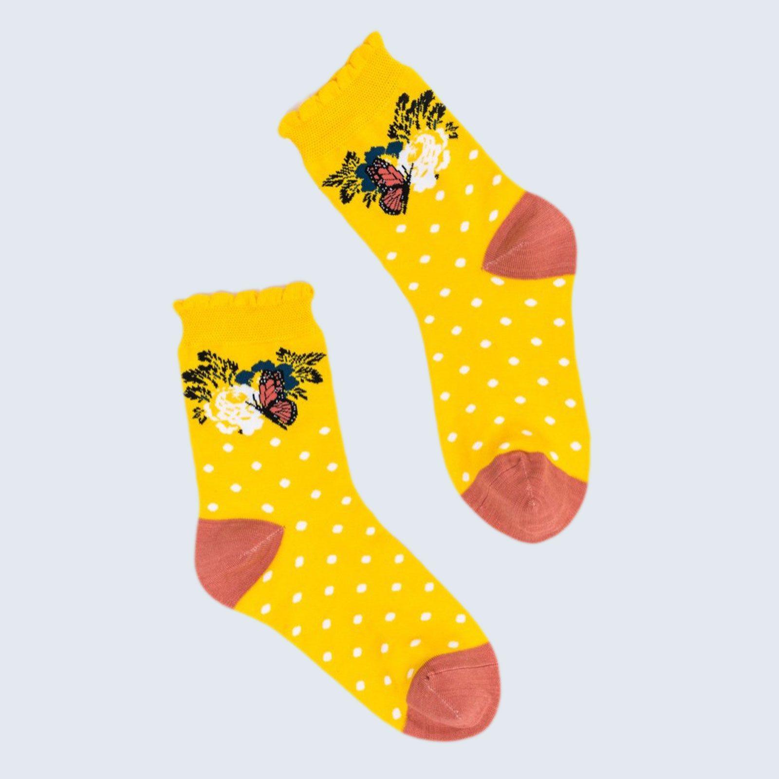 Sock Candy Polka Dot Ruffle Ankle Sock