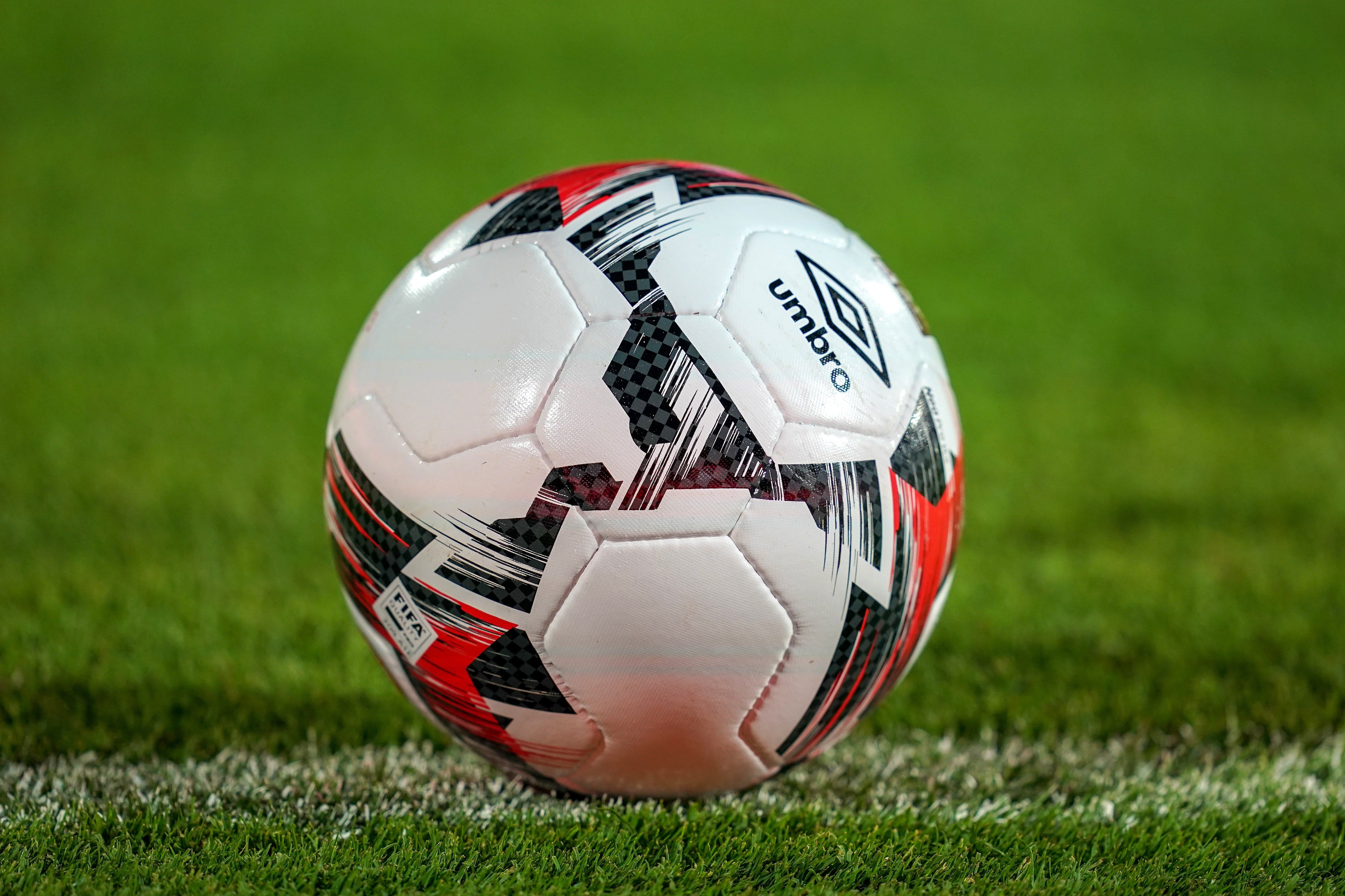 Mandatory Credit: Photo by Ulrik Pedersen/CSM/Shutterstock (10323991e) Umbro ball during the African Cup of Nations match between South Africa and Namibia at the Al Salam Stadium in Cairo, Egypt South Africa v Namibia - African Cup of Nations, Cairo, USA - 28 Jun 2019