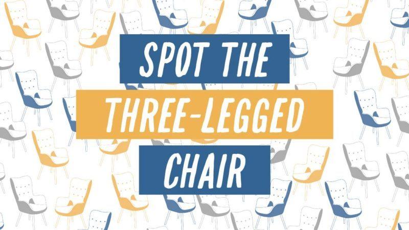 spot the three-legged chair title banner
