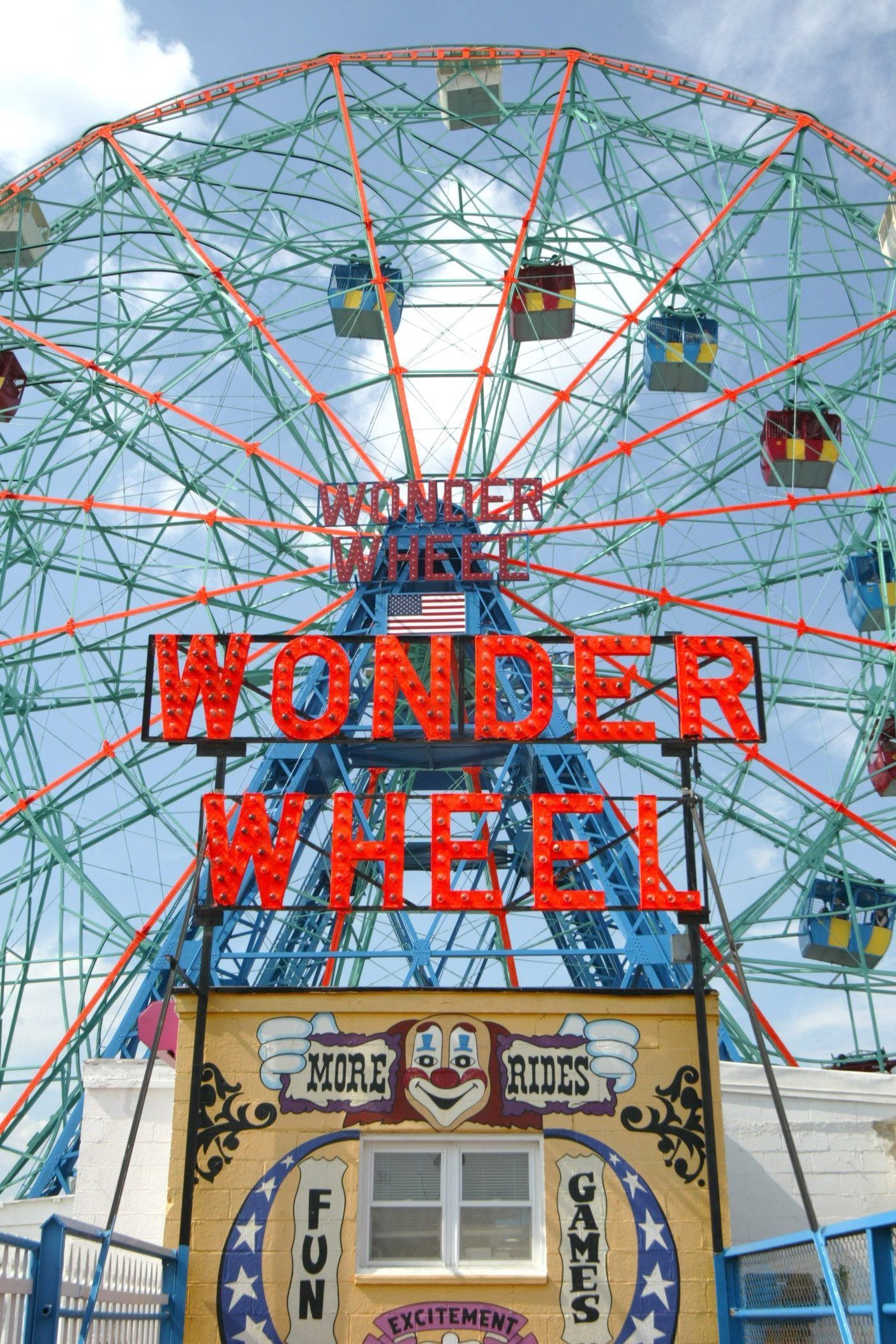 Mandatory Credit: Photo by Erik Pendzich/Shutterstock (458559b) The Wonder Wheel in Astroland Park at Coney Island THE 22ND ANNUAL MERMAID PARADE, NEW YORK, AMERICA - 26 JUN 2004