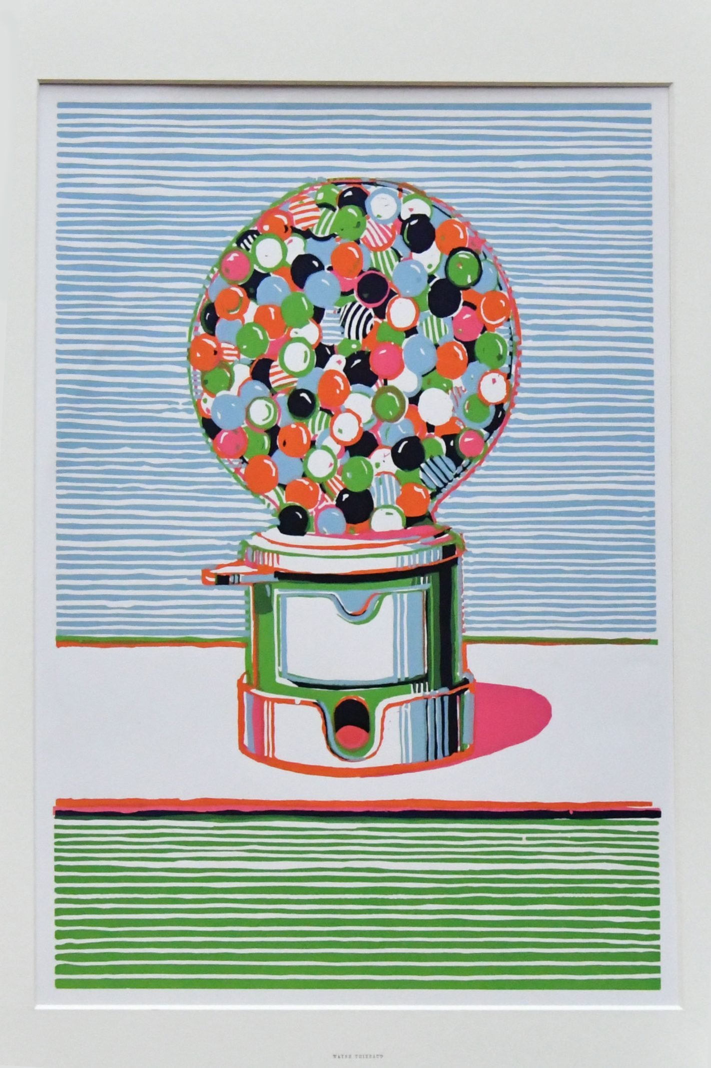 Mandatory Credit: Photo by Nils Jorgensen/Shutterstock (6235891c) Wayne Thiebaud. Gumball Machine. 1970. Catherine Daunt, Project Curator Monument Trust. 'The American Dream' exhibition photocall, The British Museum, London, UK - 12 Oct 2016 Photo call for key works which will be in the British Museum's next major exhibition The American Dream: pop to the present, which opens Spring 2017