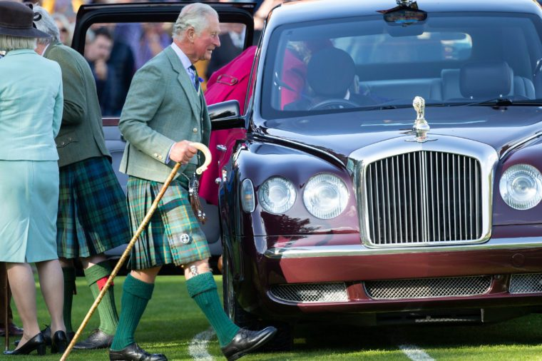 The Braemar Highland Gathering, Scotland, UK - 07 Sep 2019 Prince Charles departs from the Gathering.
