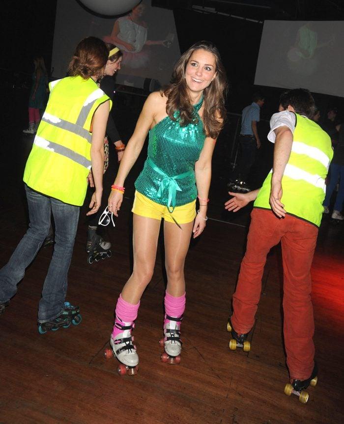 kate middleton roller disco party