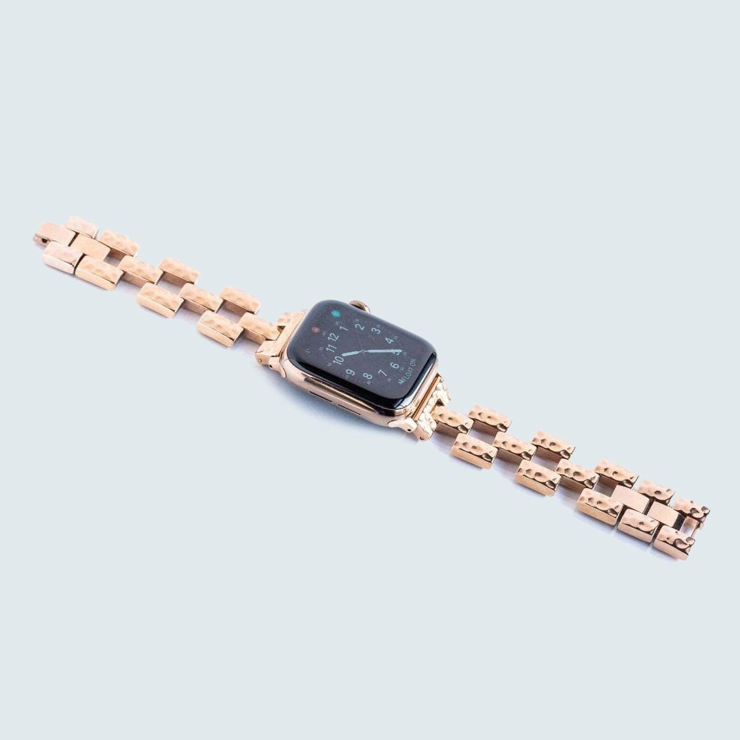 Goldenerre Hammered Link Watch Band