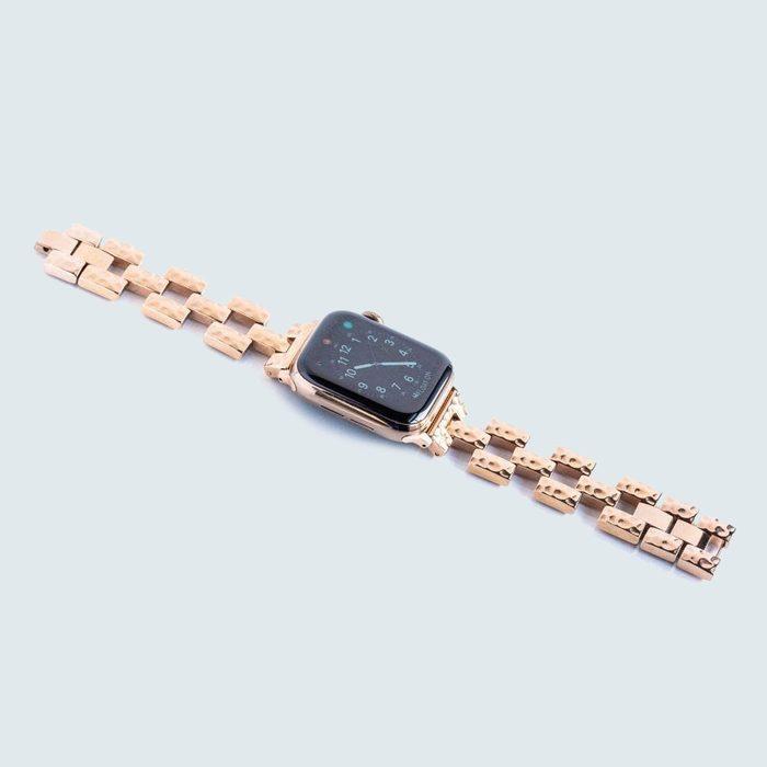 Goldenerre Hammered Link Watch Band