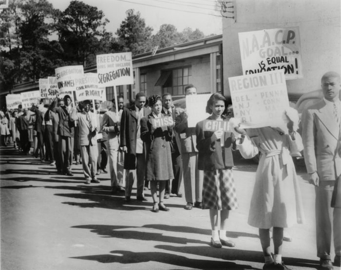 Mandatory Credit: Photo by Everett/Shutterstock (10288617a) The Civil Rights Movement began in the late 1940s with small demonstrations such as this one by NAACP youth members protesting Texas segregation laws. Historical Collection