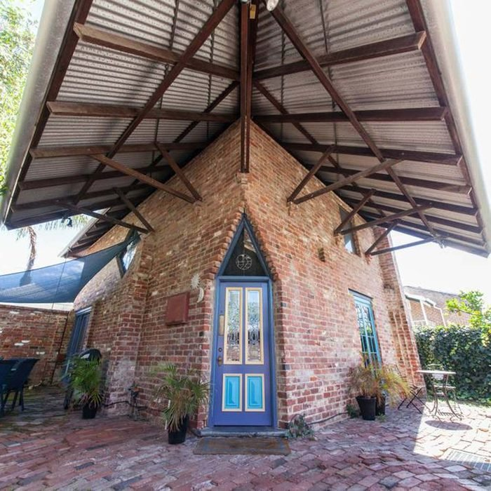 House built with recycled bricks
