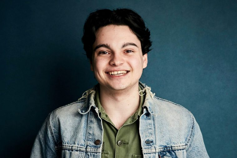 """Max Burkholder poses for a portrait to promote the film """"Imaginary Order"""" at the Salesforce Music Lodge during the Sundance Film Festival, in Park City, Utah 27 Jan 2019"""