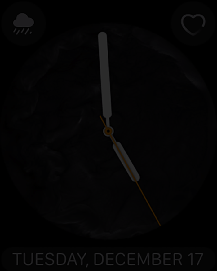 apple watch time check