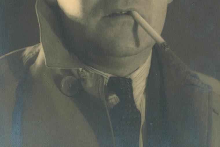 A man with cigarette, circa 1940s
